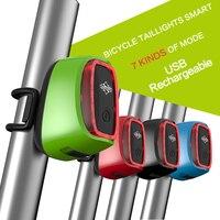 Waterproof 900mAh USB Battery Led Bike Light MTB Road Bike Intelligent Rear Bicycle Lamp Seatpost Tail