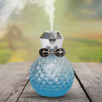 USB Ultrasonic Air Humidifier 100ml Perfume Bottle Aromatherapy Humidifier Mini Home Aroma Diffuser With Multicolor Lights