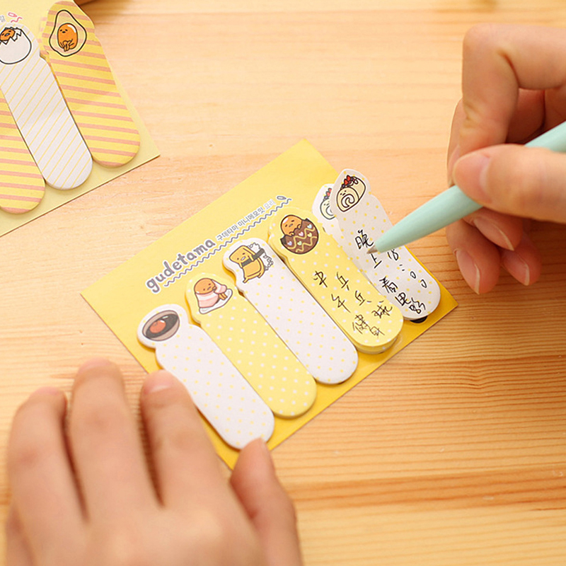 20 Pages Cute Mini Sticker Post It Memo Bookmarker Tab Pad Sticky Notes-PC Friend