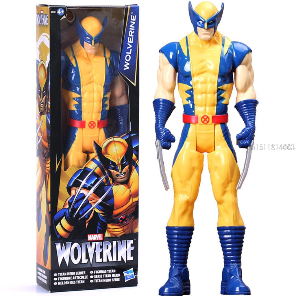 1230CM Super Hero X men Wolverine Spiderman Spider man Action Figure Doll Classic Model Marvel Toy As Gift PVC Free Shipping a toy a dream free shipping 6 tokusatsu revoltech no 002 hero spiderman spider man boxed 16cm pvc action figure model doll toy