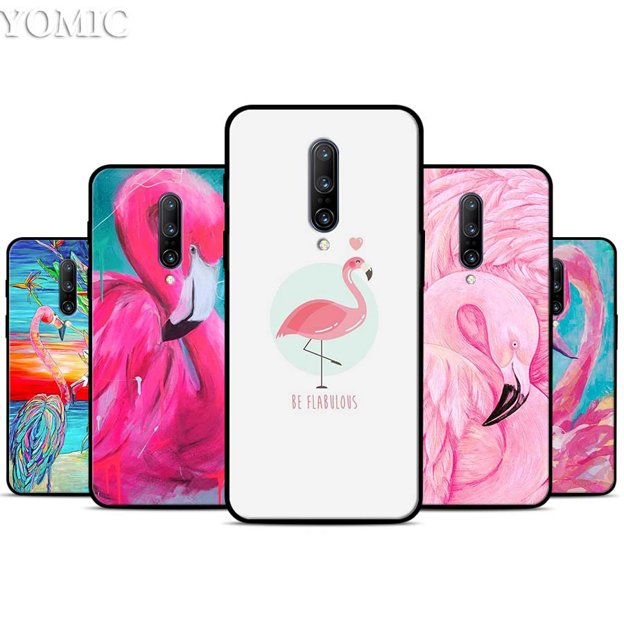 My Flamingo rose Silicone Case for font b Oneplus b font font b 7 b font