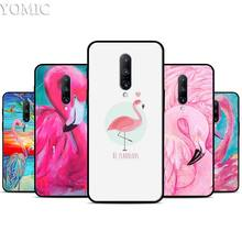 My Flamingo rose Silicone Case for Oneplus 7 7Pro 5T 6 6T Black Soft Case for Oneplus 7 7 Pro TPU Phone Cover