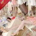 Medias de seda de la Mujer Warmth.5D Núcleo Hilado Transparente Ultrafino Medias de Nylon Cuerpo Más Tamaño Pantimedias Nuevo 2015 Día de San Valentín de