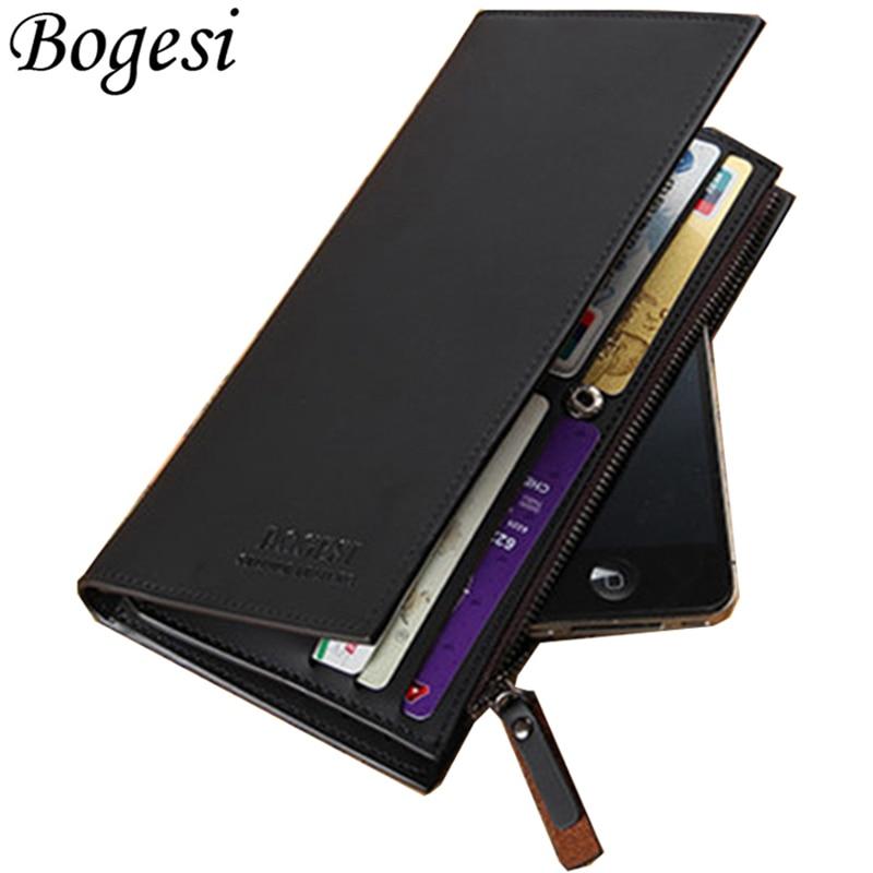 Long Phone Handy Male Cuzdan Business Card Holder Money Portomonee For Men Wallet Clutch Bag Purse Klachi Walet Vallet Kashelek
