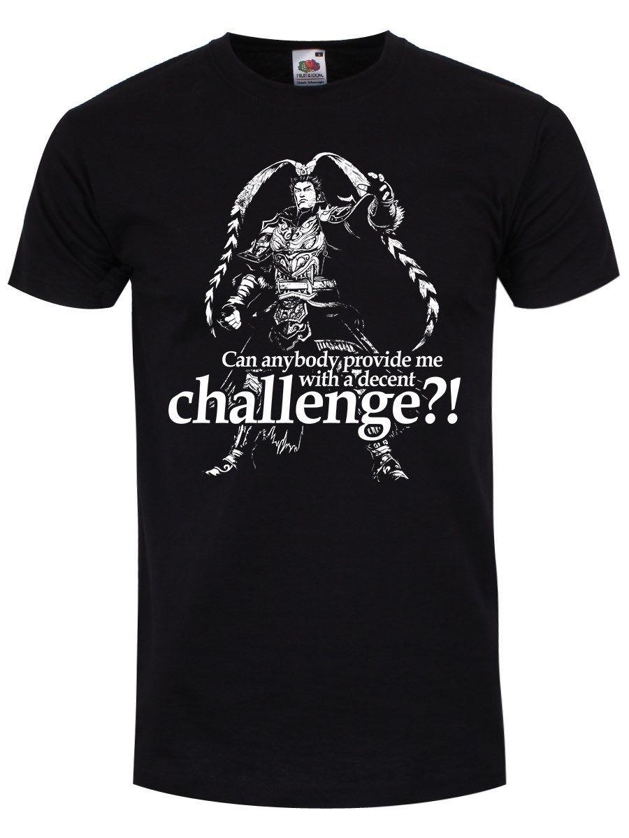 Warrior of The Three Kingdoms Mens Black T-shirt O-Neck Fashion Casual High Quality Print T Shirt Men Lastest