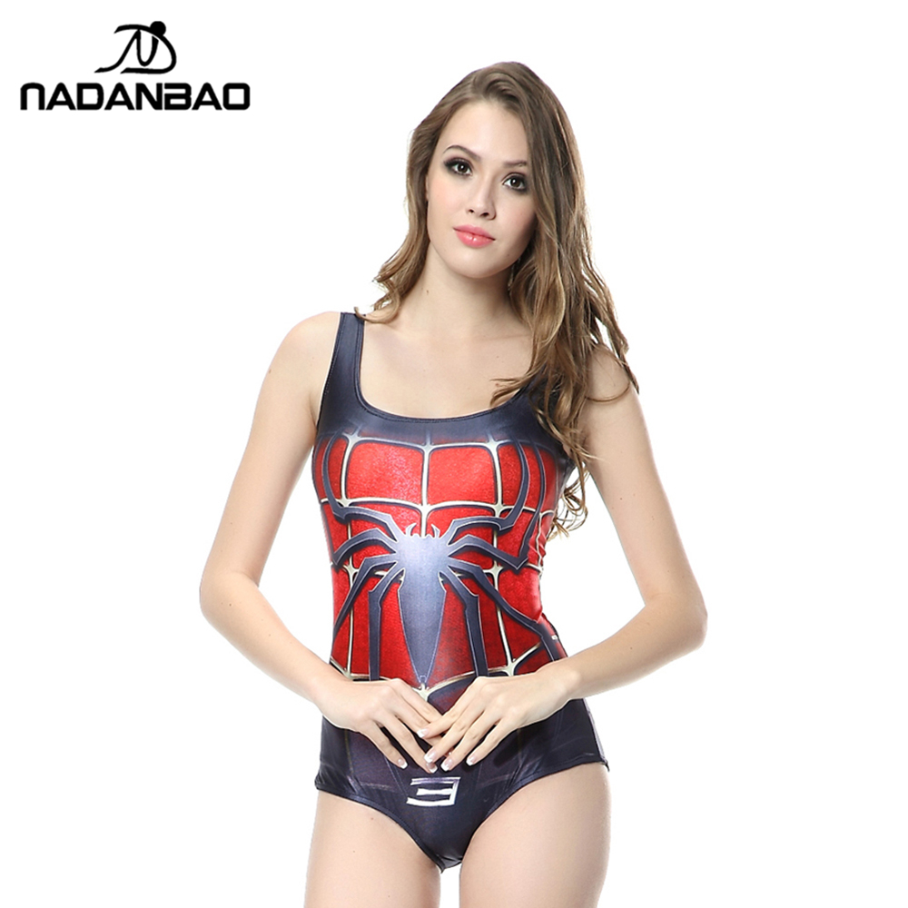 92855a0a72545 Online Shop Hot Sale Sexy Sleeveless Beach Wear Spider Man Printed Women Swimsuit  Bathing Suit Bodysuit One Piece Swimwear CYQ1115