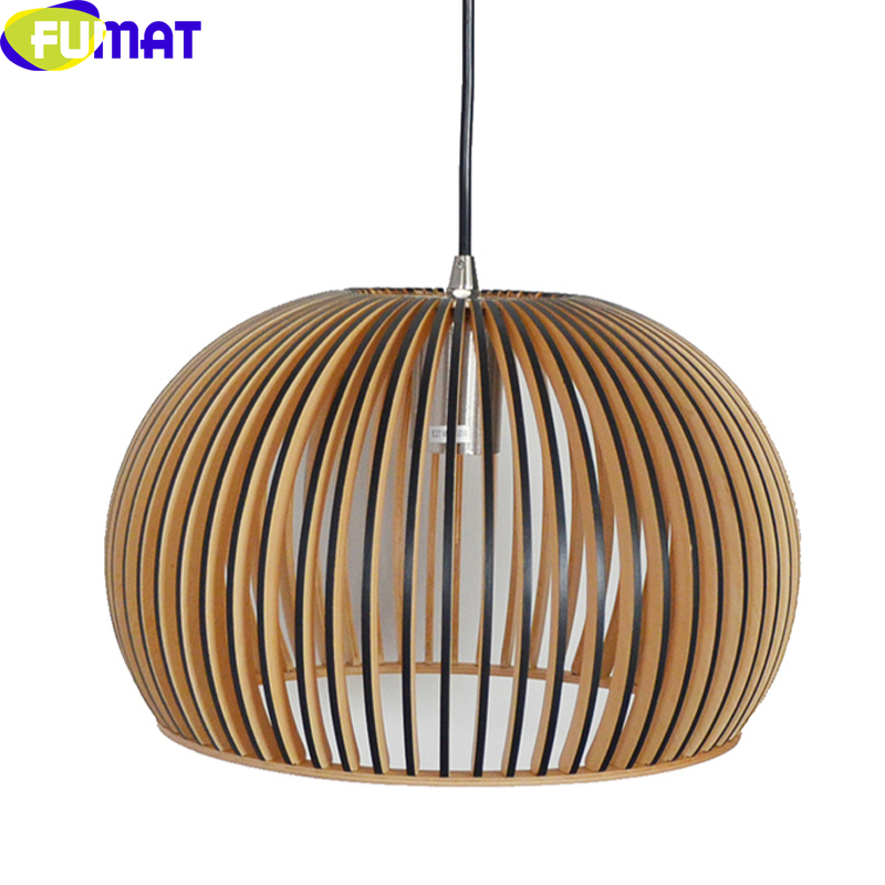 FUMAT Nordic Wood Pendant Lights Restaurant Bar Led Lamp Fixture Creative Study Room Wood Hanging Pendant Light Luces colgantes