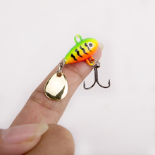 2017 new arrival Metal VIB Fishing Lure 8g 2.0cm Fishing Tackle Pin Crankbait Vibration Spinner Sinking Bait