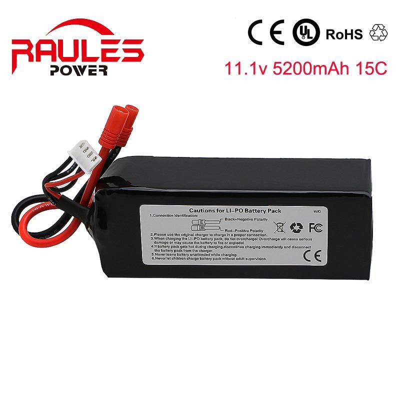 Top Lipo Battery 11 1V 5200mAh 3S 15C true for Walkera QR X350 PRO font b