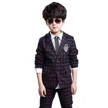 Thiếu Niên 6-14boy Bộ quần áo kẻ sọc Bộ đồ cho bé trai học quần áo trẻ em đồng phục quần áo trẻ em bé trai phù hợp với bộ