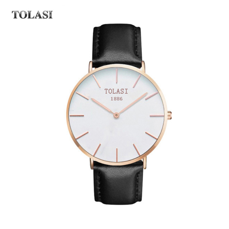 Men Watches  Luxury Brand Ultra Thin Full Genuine Leather Clock Male Waterproof Casual Sport Watch Men Wrist Quartz Watch TOLASI genuine leather quartz men s fashion watches casual ultra thin man wrist watch ibso brand rhinestone waterproof male dress clock page 8