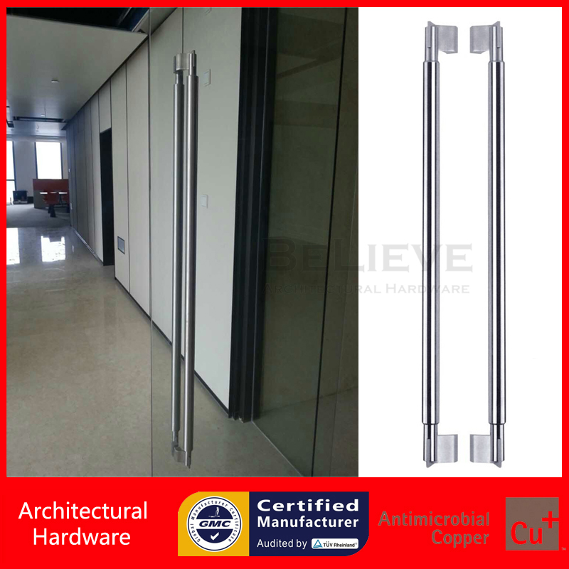 Entrance Door Handle Precision Cast Brushed 304 Stainless Steel Pull Handle PA-118 For Glass/Wooden/Metal Frame Door entrance door handle made of precision cast stainless steel pull handles pa 348 22 22 800mm for glass wooden metal doors