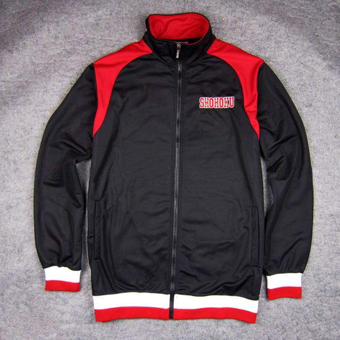 Cosplay for Anime SLAM DUNK Shohoku High School Basketball Team Costume Black Baseball Jacket Coat Unisex