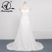 2017 A Line Robe De Mariage Backless Cheap Bridal Dress Stunning Vestido De Noiva Cap Sleeve