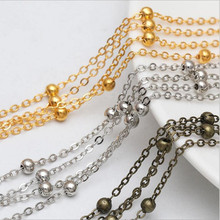 5meters DIY Chain Beads Chain Bracelet Anklet Necklace for DIY Jewelry Making Materials Sexy Chain Beads 4mm ,chain width 2mm