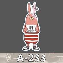 A-233 Gefängnis Kaninchen Wasserdicht DIY Aufkleber Für Laptop Gepäck Skateboard Kühlschrank Auto Graffiti Cartoon Aufkleber