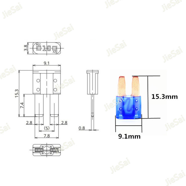 14 Pcs Micro2 ATR Automotive Fuses Assorted 5A 7.5A 10A 15A 20A 25A 30A Set Pack For New ford focus mondeo Dodge JEEP