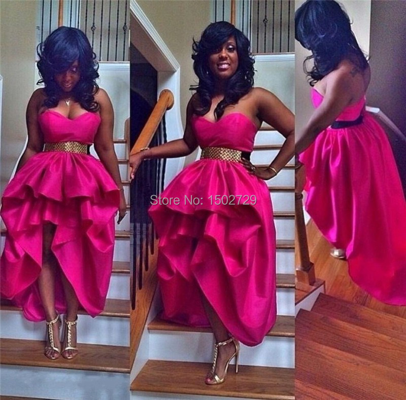 Popular Hot Pink Prom Dresses Short-Buy Cheap Hot Pink Prom ...
