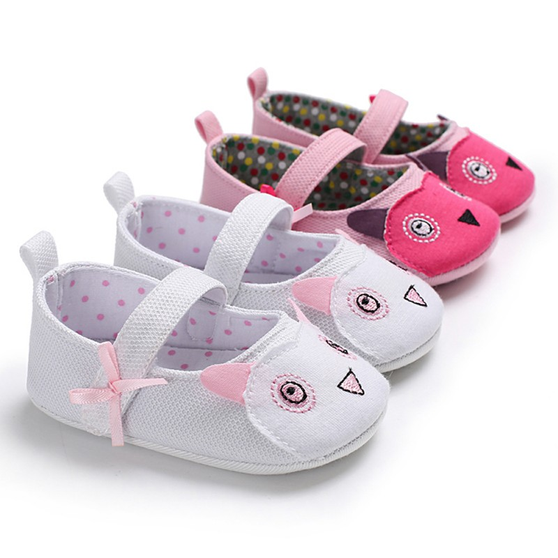 Toddler Baby Girl Soft sole Princess Shoes lovely cute panda flower style Infant Prewalker Newborn Baby Shoes 0-18M