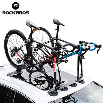 ROCKBROS Bike Bicycle Rack Suction Roof-Top Bike Car Racks Carrier Quick Install Bike Roof Rack MTB Mountain Road Bike Accessory - Category 🛒 Sports & Entertainment