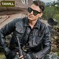 TAWILL bombardero chaqueta de cuero de los hombres Del Ejército Militar piloto motocicleta Hombres Chaquetas Abrigos Ropa de Moda chaqueta de los hombres Nueva Marca P888