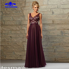 Fabulous Lace Tulle V-Neck A-Line Mother of the Bride Dresses With Lace Appliques Elegant Evening party gowns Long Women dress