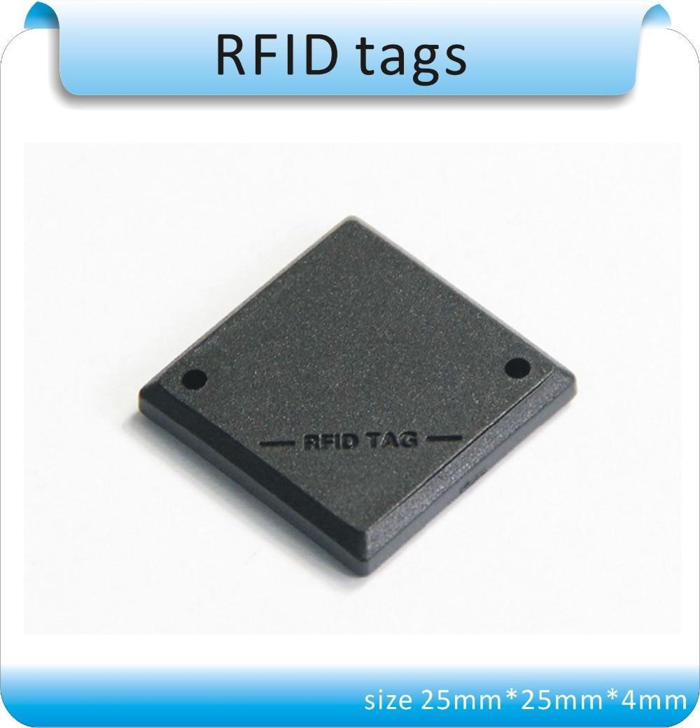 Free Shipping 100pcs Black City Of Optical Fiber / Sewer 125KHZ RFID Manage Tags /EM4305 Chips