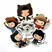 6pcs/lot Spoof github vinyl Star Wars style car stickerwaterproof skateboard travel stickers for suitcase car accessories motos