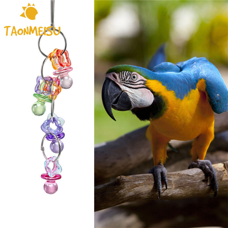 Cukorka szín peck rágás papagáj játékok nem toxikus lógó - Pet termékek