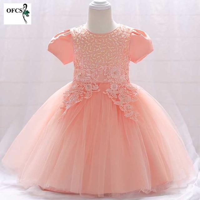9f7fb53dbd Nowe dziewczyny cekiny do sukienki gaza dzieci Wedding Party suknie dzieci  wieczorowe suknie balowe formalne dziecko kwiaty ubrania dla dziewczyny  12-24 M