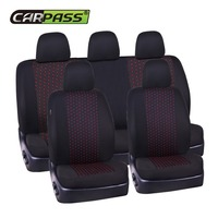 Hot Sale Jacquard Cloth 75G Black Mesh Single Complex Universal Auto Car Seat Cover Fit Most
