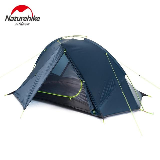 Outdoor Ultralight Silicone Coating Sinlge Layer Waterproof PU4000 Tents Aluminum Rod 1-2People Tent Anti Heavy Rain Navy Green