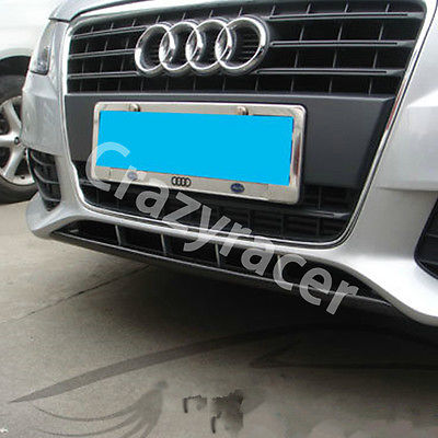 Carbon Fiber Front Bumper Lip For Audi A4 B8 Non-Sline 2009-2012 4pcs set wrc bumper strip carbon fiber