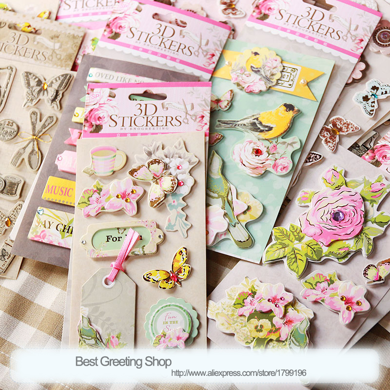 Online Buy Wholesale 3d Scrapbook Stickers From China 3d