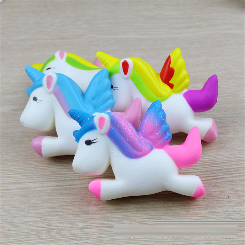 Zhenwei Squishy Toys Slow Rising Unicorn Animal Jumbo Phone Strap Squishi Squeeze Toy Squishes No Sound