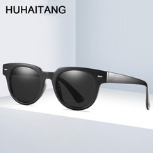 HUHAITANG Luxury Brand Rivets Sunglasses Womens 2019 Quality Classic Men Sun Glasses Women Designer Vintage Small Sunglases Mens