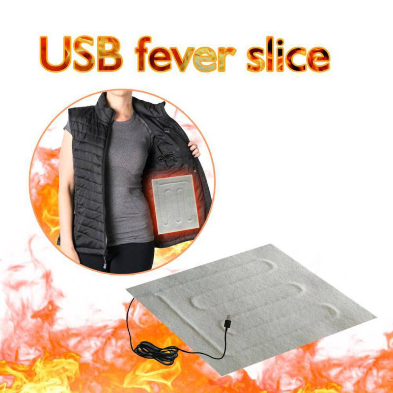 2Pcs Protable Usb Heating Heater Winter Warm Plate For Shoes Golves Mouse Pad US