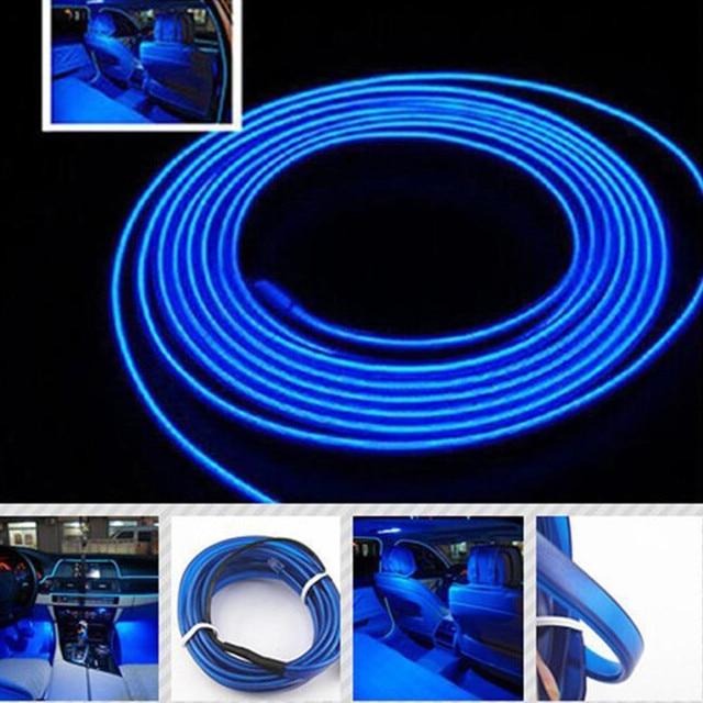 Universal Auto Car 2M 12V EL Wire BLUE Cold light lamp Neon Lamp Car ...