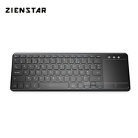 Zienstar AZERTY French 2.4G Wireless Keyboard with Touchpad for Windows PC,Laptop,Ios pad,Smart TV,HTPC IPTV,Android Box