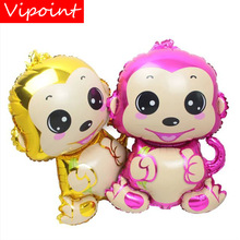 VIPOINT PARTY 75x50cm gold pink monkey foil balloons wedding event christmas halloween festival birthday party HY-157