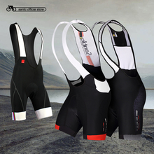 2016 Profession Santic Cycling Bib Shorts Men Coolmax Gel Padded Bike Set M5C05049H