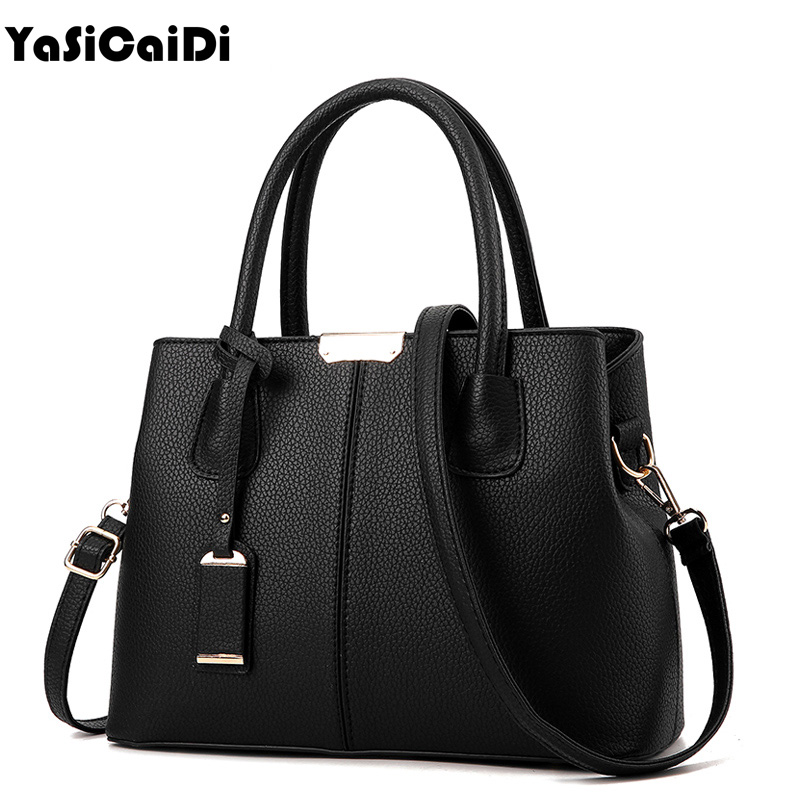 YASICAIDI Top-handle Women Tote Bag Lady Handbag OL Style Shoulder Bag Casual Zipper Messenger Bag PU Leather Handbag Satche Sac led bathroom basin sink faucet single handle mixer faucets chrome nickel hot and cold water faucet with cover plate
