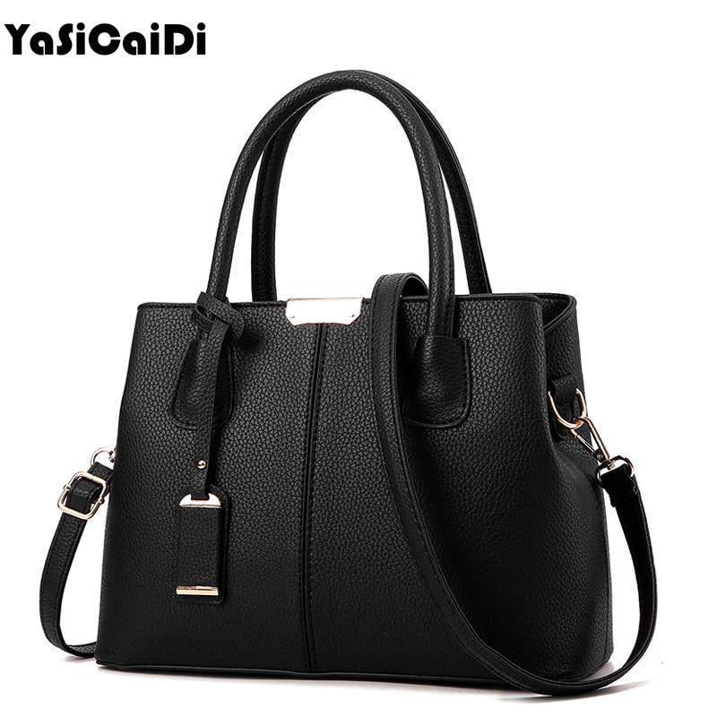 YASICAIDI Top-handle Women Tote Bag Lady Handbag OL Style Shoulder Bag Casual Zipper Messenger Bag PU Leather Handbag Satche Sac china 3kw heater element for lx h30 rs1 bathtub heater