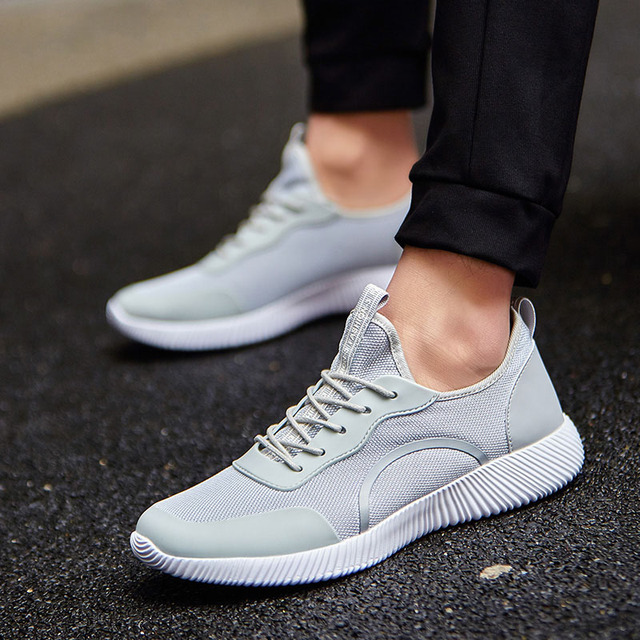 Men Shoes 2017 Men Casual Shoes Summer Breathable Lace up Flats Fashion Light Male Footwear Big Size 35-48