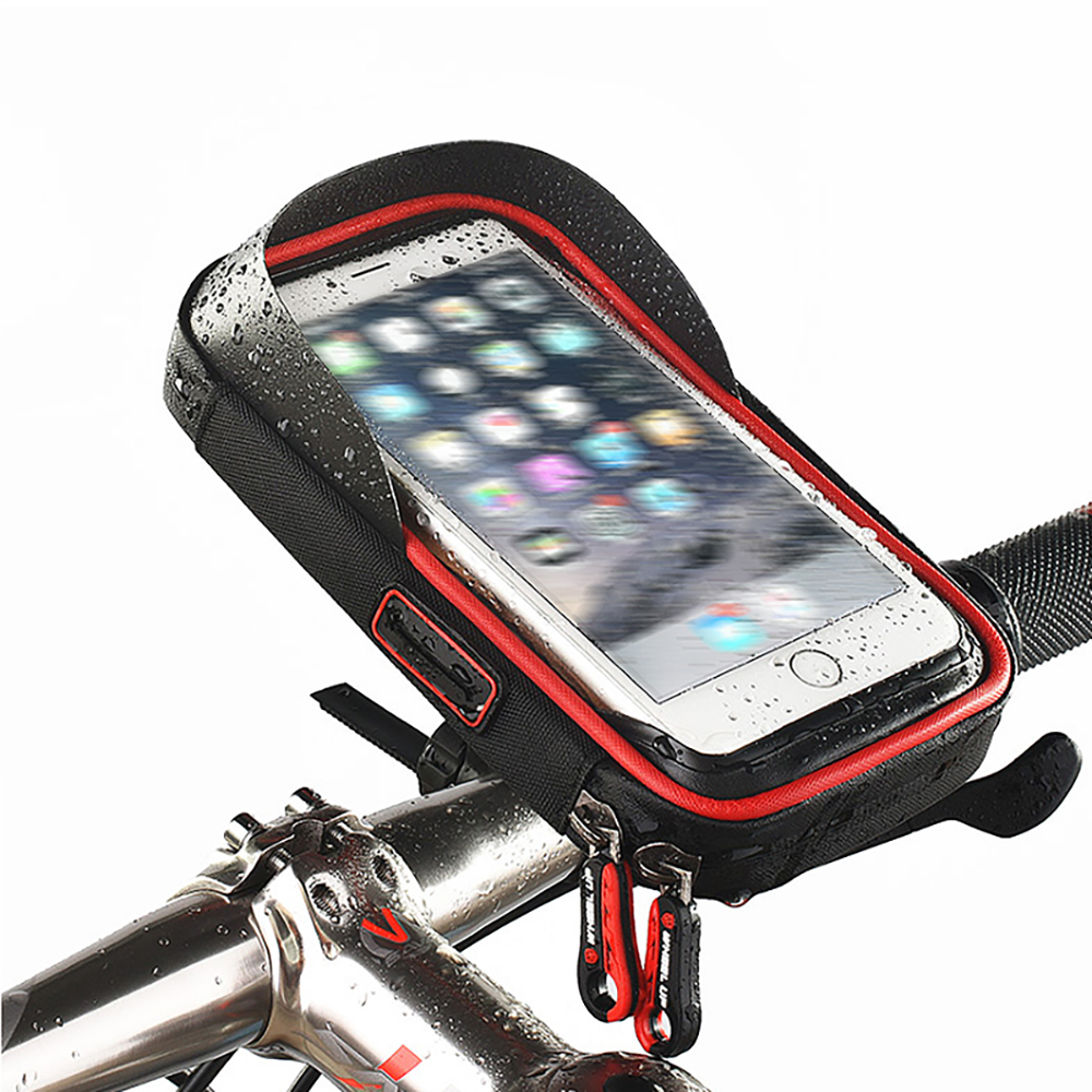 Bike and Motorcycle Phone Support Stand, Waterproof Handlebar Phone Holder