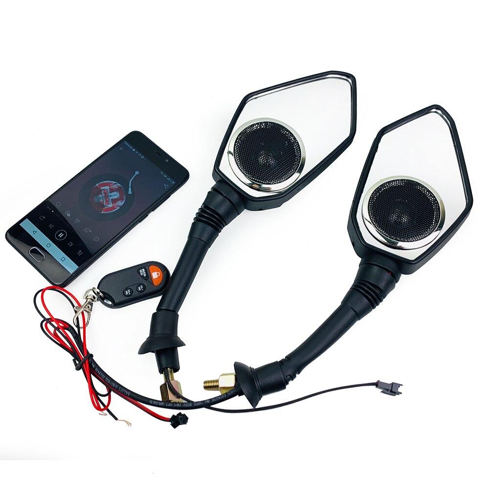 Master Racing Mirror 10 мм 8 мм скутер мотоцикл Bluetooth аудио звук Противоугонная охранная сигнализация зеркала заднего вида FM MP3 плеер|Защита от кражи|   | АлиЭкспресс