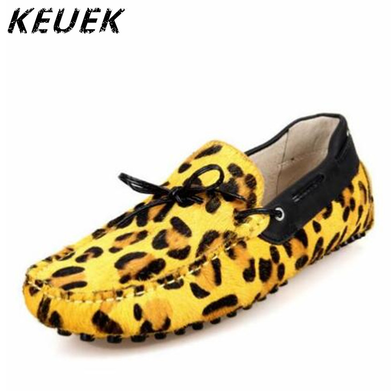 Fashion Leopard attern Loafers Genuine leather Moccasins Men Slip-On Flats Casual Driving shoes Youth trend Boat shoes 022 handmade genuine leather men s flats casual haap sun brand men loafers comfortable soft driving shoes slip on leather moccasins