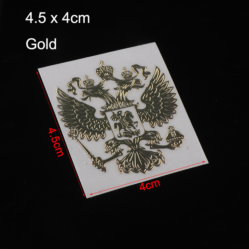 Image 3 - 3D Metal Coat of Arms of Russia Nickel Metal Car Stickers Decals Russian Federation Eagle Emblem for Car Styling Laptop Sticker-in Car Stickers from Automobiles & Motorcycles