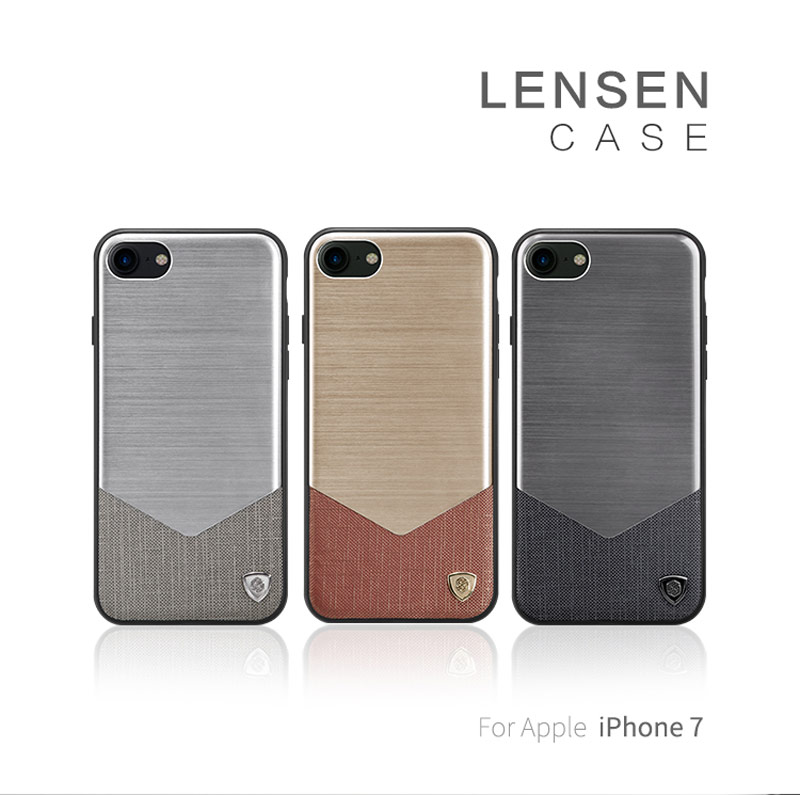 Цена за NILLKIN ленсен чехол для Apple iPhone 7 Coque высокого класса импортируется кожа + алюминиевый сплав + TPU + PC телефон чехлы для iPhone7 корпус