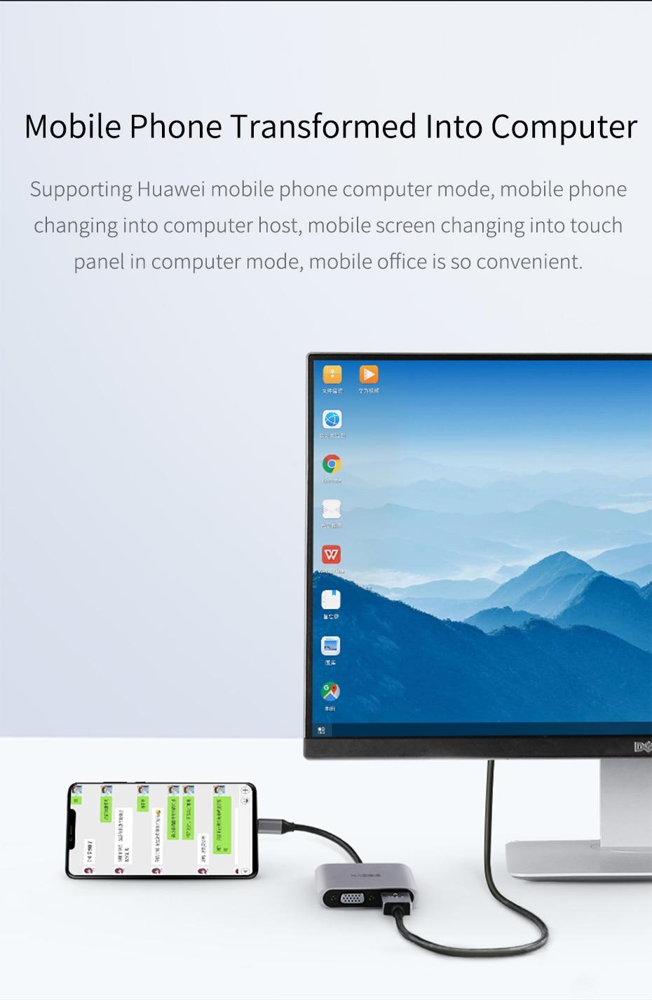 USB C to HDMI VGA 9